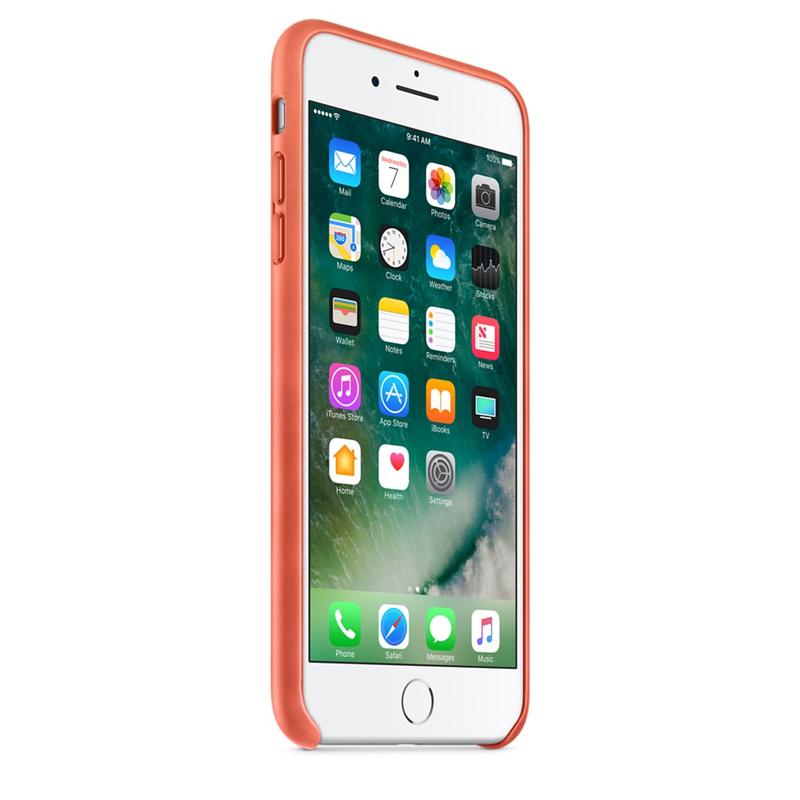 best website aff0e 22cc3 Apple Leather Case Geranium For iPhone 8/7 Plus