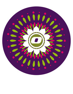 Nikidom Pair Of Wheel Mandala Stickers