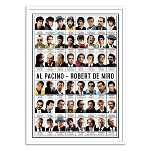 Al Pacino And Robert De Niro Art Poster by Olivier Bourdereau [30 x 40 cm]