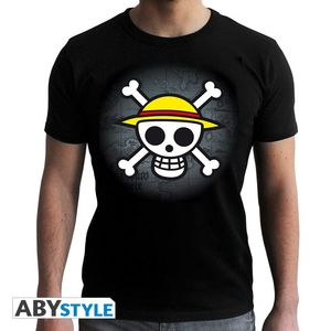 Abystyle One Piece Skull With Map Men's T-Shirt Black