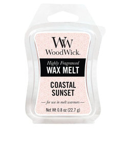 Woodwick Mini Wax Melt Coastal Sunset White Small Candle