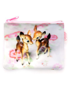 Cat's Eye Deer On Rose Coin Purse