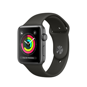 Apple Watch Series 3 42mm Space Grey Aluminum Case With Grey Sport Band