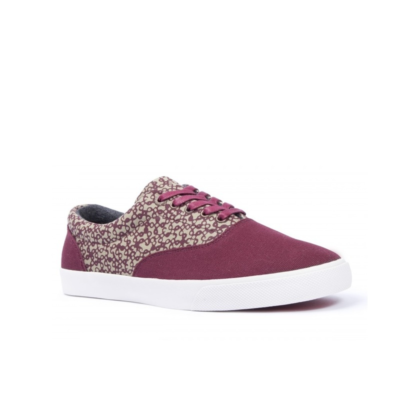 Bucketfeet Mystery Burgundy Low Top Canvas Lace Men's Shoes