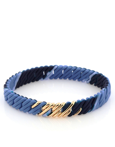 The Rubz Nano Pixel Bracelet Blue Mix & Soft Gold