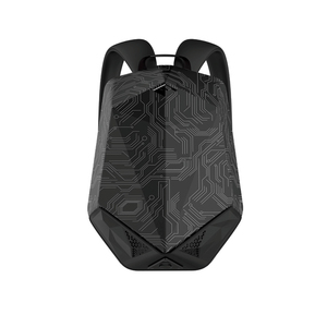 BRAVE BLUETOOTH SPEAKER BACKPACK WITH 5000MAH POWER BANK NYLON BLACK CIRCUIT PATTERN