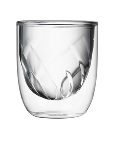 QDO Fire Double Wall Transparent Glass 210ml [Set of 2]
