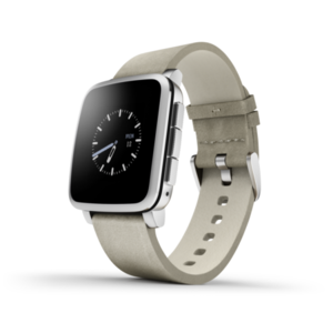 Pebble Time Steel Smartwatch White