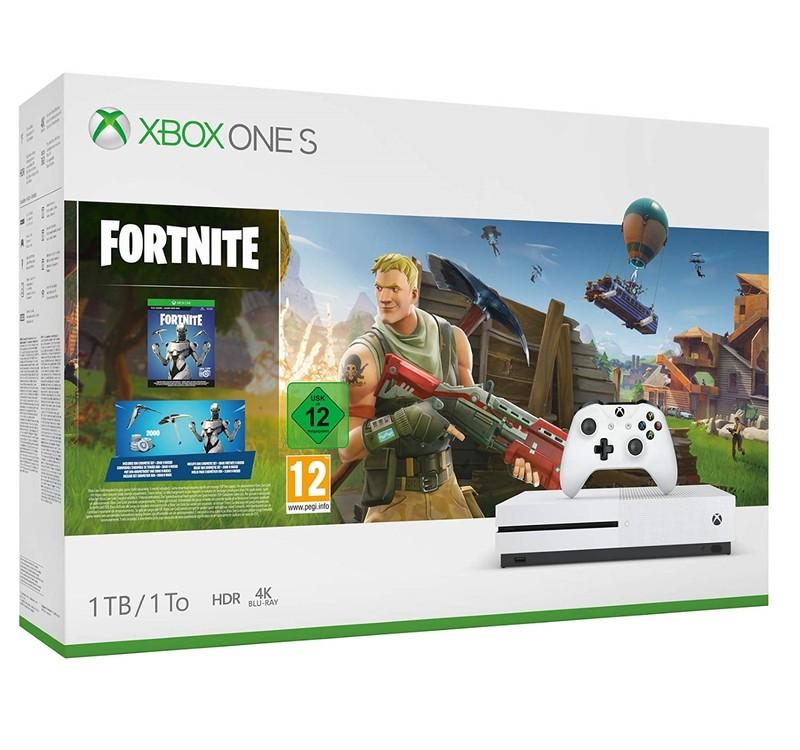 Xbox One S 1tb Fortnite Bundle Console