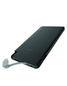 Cygnett Chargeup Pocket Lighting Lithium Polymer 2.1A Black 4000Mah Power Bank
