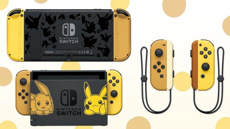 Nintendo Switch 32gb Pokemon Let S Go Pikachu Edition Us Poke