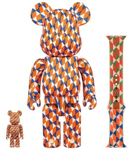 Bearbrick Barry Mcgee 400 & 100 Percent Figures with Apple Watch Sport Band 44mm [Set of 2 Figures]