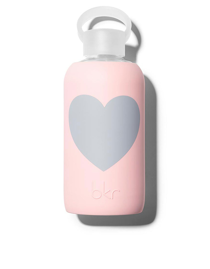 bkr pout heart 250ml opaque light pink water bottle drinkware kitchen dining house. Black Bedroom Furniture Sets. Home Design Ideas