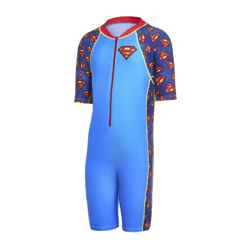 Zoggs Superman All In One Zip Suit Junior Boys