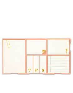 Kate Spade Sticky Note Set Gold
