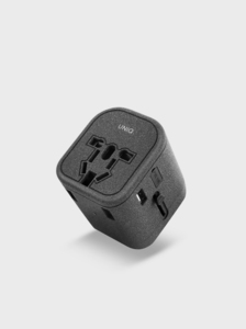 Uniq Voyage Charcoal World Adapter