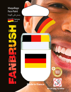 Fanbrush Germany Flag Face Paint