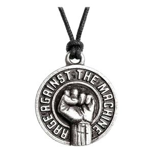 Rage Against The Machine Fist Pendant Silver