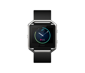 Fitbit Blaze Black Stainless Steel Smart Watch Large