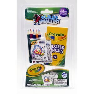 World'S Smallest Crayola Color Pencil/Coloring Book Set