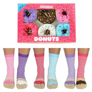 United Oddsocks Donuts Women's Socks [Size 4-8 UK]