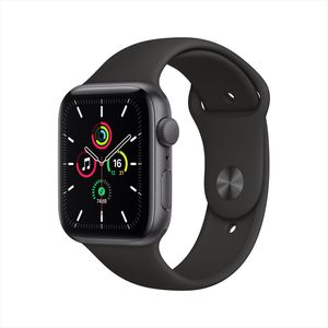Apple Watch SE GPS 44mm Space Grey Aluminium Case with Black Sport Band