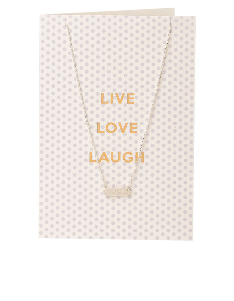 Orelia Gold Plated Live Love Laugh Necklace Gift Card | Necklaces ...