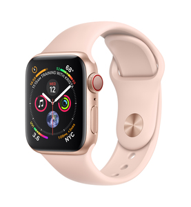 Apple Watch Series 4 GPS +Cellular 40mm Gold Aluminium Case with Pink Sand Sport Band