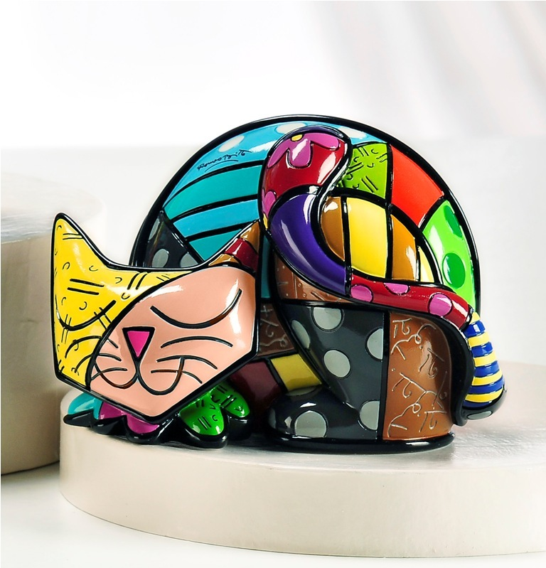 Romero Britto Tim Cat Figurine