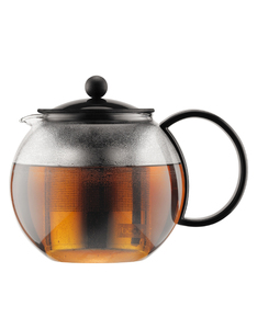 Bodum Assam Tea Press 1L Stainless Steel Filter-Black