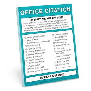 Knock Knock Nifty Office Citation Sticky Notes
