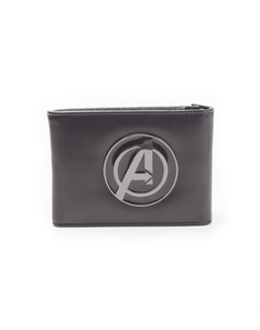 Avengers Logo Bifold Men's Wallet Black