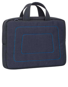 Rivacase 7520 Canvas Shoulder Bag Black Laptop 13.3 Inch