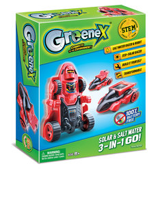 Amazing Toys GreeneX Solar & Salt Water 3-In-1 Go