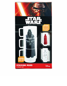 Underground Toys Star Wars Stacking Mugs Darth Vader/Stormtrooper/Imperial Trooper [Set of 3]