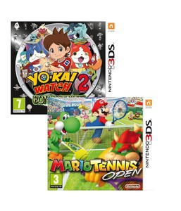 Mario Tennis Open + Yo-Kai Watch 2 Bony Spirits [Bundle]