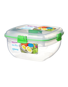 Sistema 1.6 Ltr Salad Bowl with Cutlery & Dressing Pot