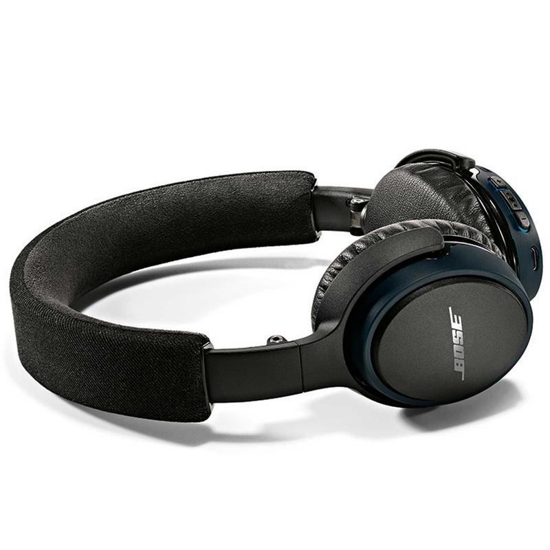 bose on ear headphones. bose soundlink oe black/blue headphones on ear