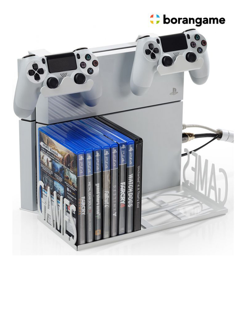 Borangame gamespiderswap ps4 wall mount desk organizer - Desk organizer white ...