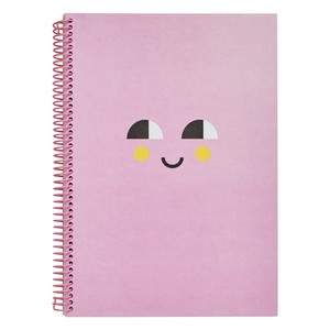 Kikki.K A4 Everyday Spiral Notebook Smile Musk Pink