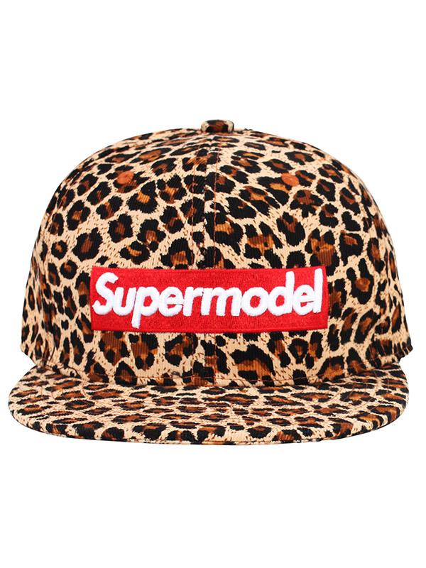 Alex   Chloe Supermodel Leopard Red Snapback Cap  75b2b46dc087