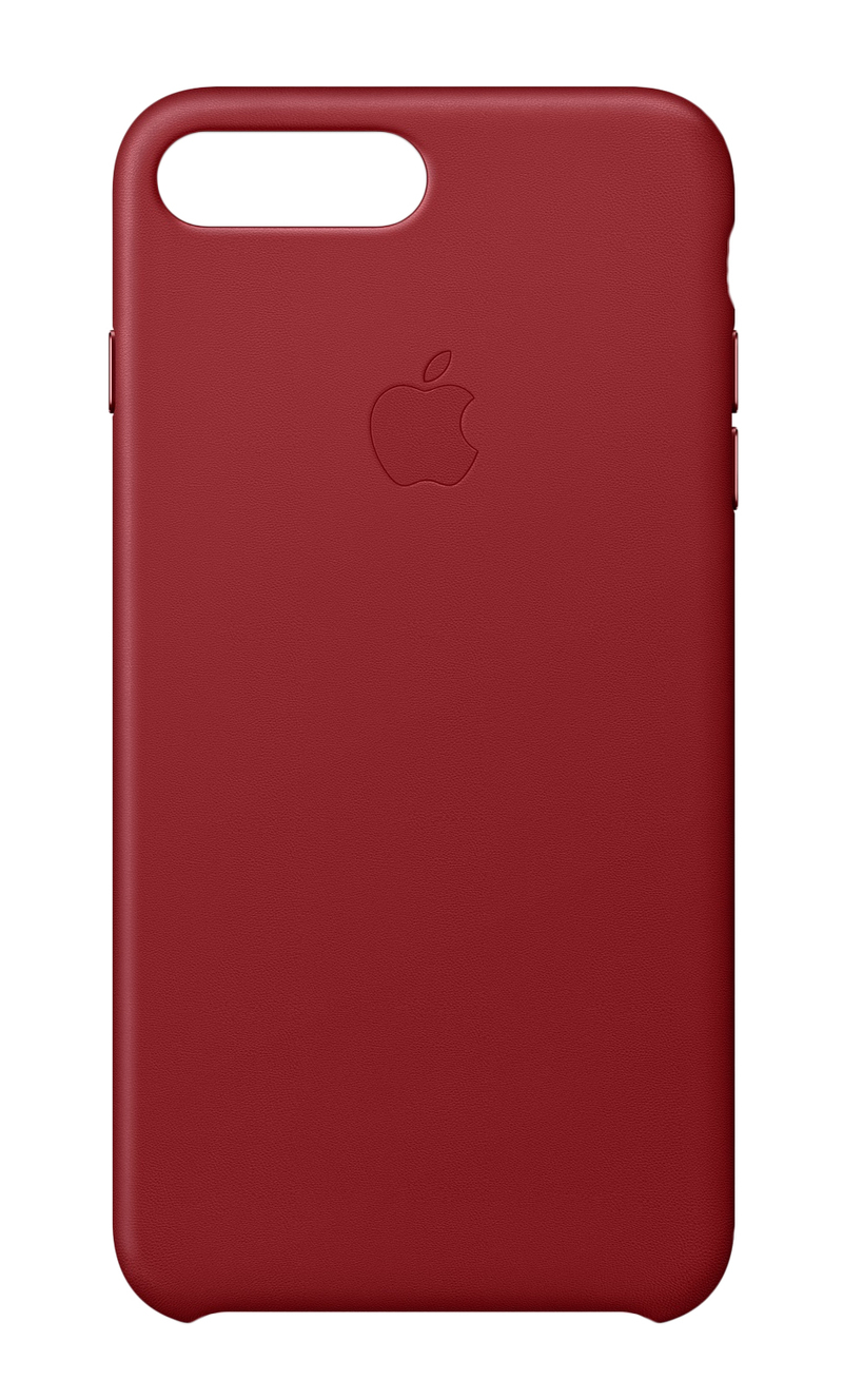 premium selection 65759 c4f6e Apple Leather Case Red for iPhone 8 Plus/7 Plus