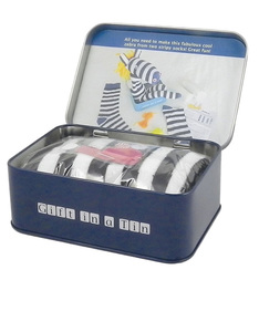 Apples To Pears Sock Zebra In A Tin