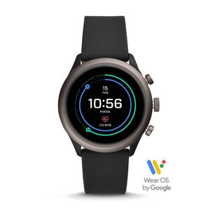 Fossil FTW4019P Sport Black Smart Watch 43mm [Gen 4]