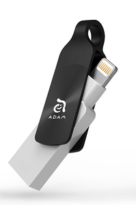 Adam Elements Iklips Duo+ 64GB Black Mobile Data Storage