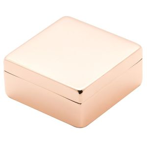 Lund Luxe Rose Gold Square Box with Lid