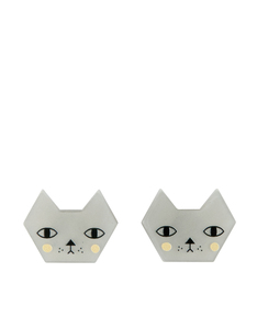 Little Moose Faces Cat Stud Earrings