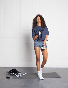 Sixth June Sports Oversized Dark Blue T-Shirt