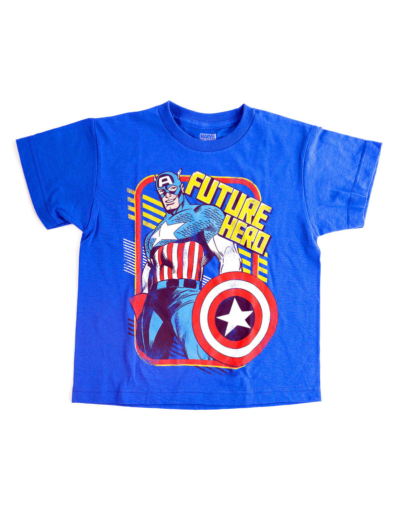 Captain America Future Royal Blue T-Shirt [Size 7]