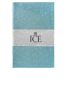 Ice London Glitter Notebook Blue